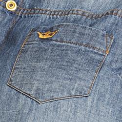 detalhe bolso logo marca principessa iona