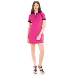 detalhe vestido pink marinho feminino principessa andrieli como usar