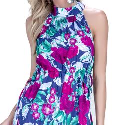 detalhe vestido floral principessa fabi elastico cintura