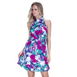 detalhe vestido floral principessa fabi elastico look