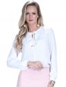 blusa off white com babado e amarracao feminina principessa joice look
