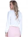 blusa off white com babado e amarracao feminina principessa joice look costa