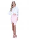 blusa off white com babado e amarracao feminina principessa joice look costa completo