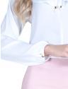 blusa off white com babado e amarracao feminina principessa joice punho