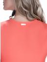 blusa feminina principessa juci detalhe babado placa metal