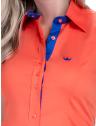 camisa regata laranja feminina principessa annie social logo