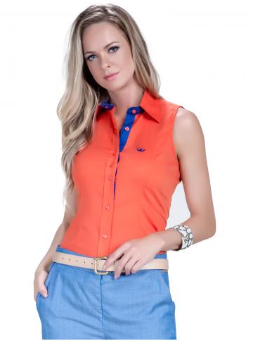 camisa regata laranja feminina principessa annie social look
