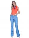 camisa regata laranja feminina principessa annie social look completo