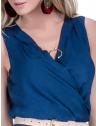 vestido decote transpassado marinho principessa ketrim alca