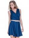 vestido decote transpassado marinho principessa ketrim look