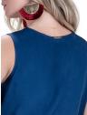vestido decote transpassado marinho principessa ketrim placa metal