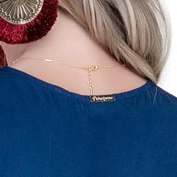 detalhe luxuosa plaquinha de metal principessa ketrim