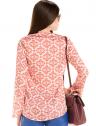 blusa decote v amarracao estampada principessa nane look costa