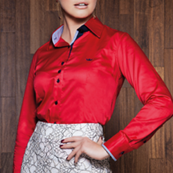 camisa social vermelha caren triplo modelagem