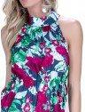 vestido feminino curto marinho floral principessa fabi