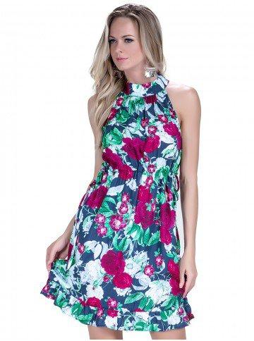vestido feminino floral principessa fabi