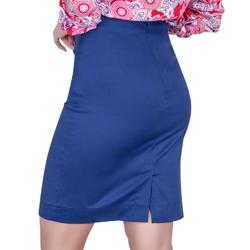 detalhe saia lapis azul marinho principessa raquel bolso falso look completo costa modelagem