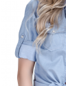 camisa estilosa principessa liane jeans claro martingale