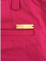 calca pink feminina principessa bianca bolso com placa