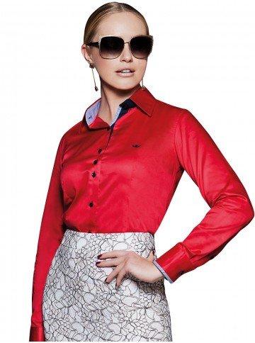 camisa feminina social vermelha principessa caren