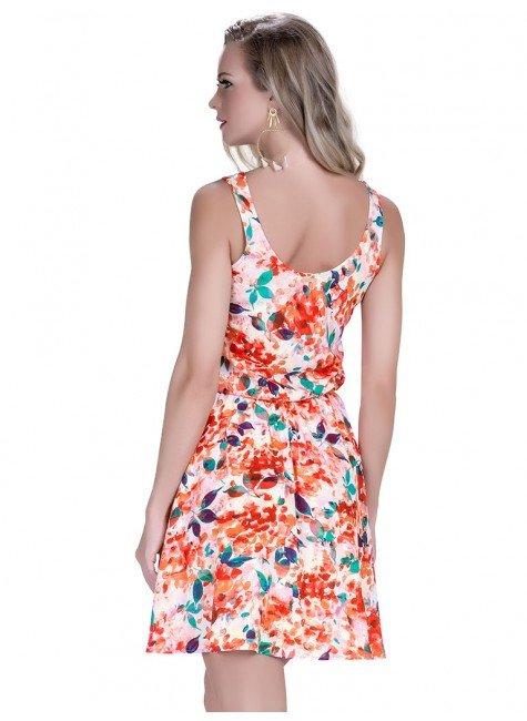 674d0d840e vestido curto principessa kamile  vestido curto floral laranja principessa  kamile .
