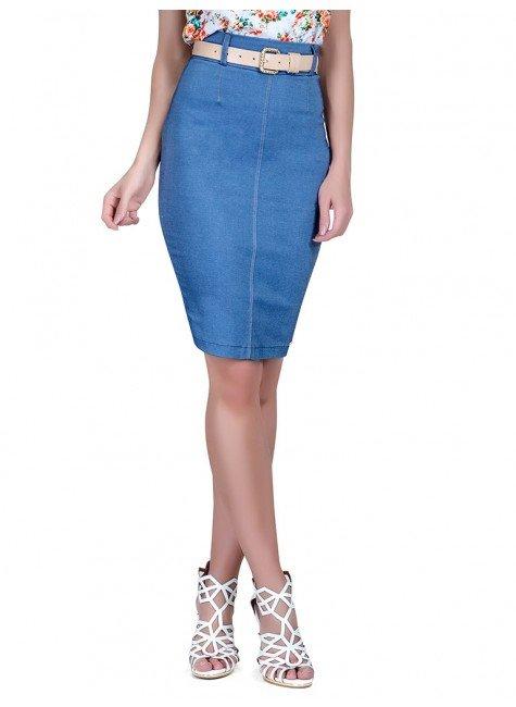 saia jeans azul principessa edda