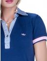 blusa polo feminina principessa nicole marinho detalhe