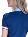 blusa polo feminina principessa nicole marinho detalhe costa