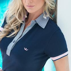 detalhe camisa polo marinho feminina principessa nicole