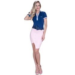 detalhe camisa polo marinho feminina principessa nicole look completo