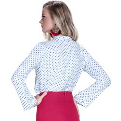 detalhe blusa com laco na gola principessa manu manga flare modelagem exclusiva