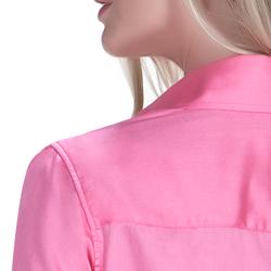 detalhe camisa exclusiva social feminina principessa sineide fio egipcio costura