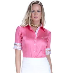 detalhe camisa exclusiva social feminina principessa sineide fio egipcio look