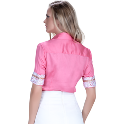 detalhe camisa exclusiva social feminina principessa sineide fio egipcio modelagem