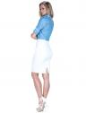 camisa manga curta social estampada poa feminina principessa radija look completo costa