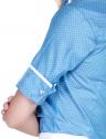 camisa manga curta social estampada poa feminina principessa radija punho