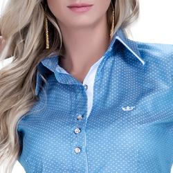 camisa radija linha premium detalhe colarinho exclusivo botao triplo busto