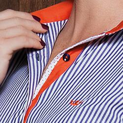 detalhe camisa nalu social principessa manga curta tecido
