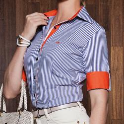 detalhe camisa nalu social principessa manga curta tecido modelagem