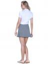 camisa polo manga curta look casual branca principessa barbara renda look completo costa