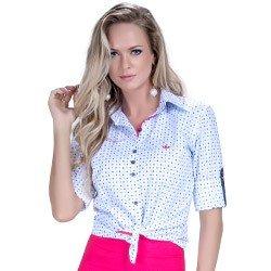 detalhe camisa branca estampada geometrica tecido algodao