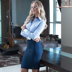 detalhe camisa social fio egipcio maquinetado azul claro manga longa principessa esther comprar look completo