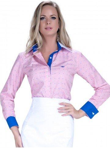 camisa social rosa feminina premium principessa leticia look