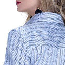 detalhe camisa social premium tecido fio egipcio listrado poa modelagem acamabento