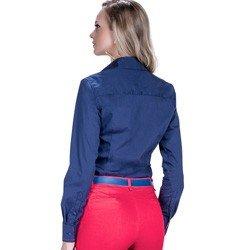 detalhe camisa marinho social azul detalhe doralice ponto picado modelagem