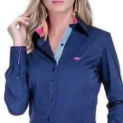 detalhe camisa marinho social azul detalhe doralice ponto picado tecido
