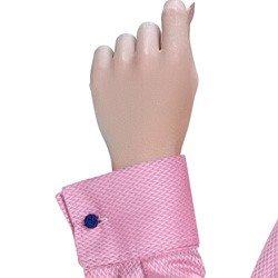 detalhe camisa rosa maquinetada feminina social principessa lourdes fio egipcio abotuadora