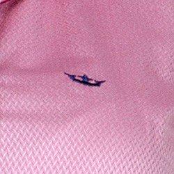 detalhe camisa rosa maquinetada feminina social principessa lourdes fio egipcio tecido