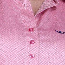 detalhe camisa rosa maquinetada feminina social principessa lourdes fio egipcio triplo busto