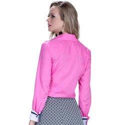 detalhe camisa social feminina premium principessa norah look modelagem